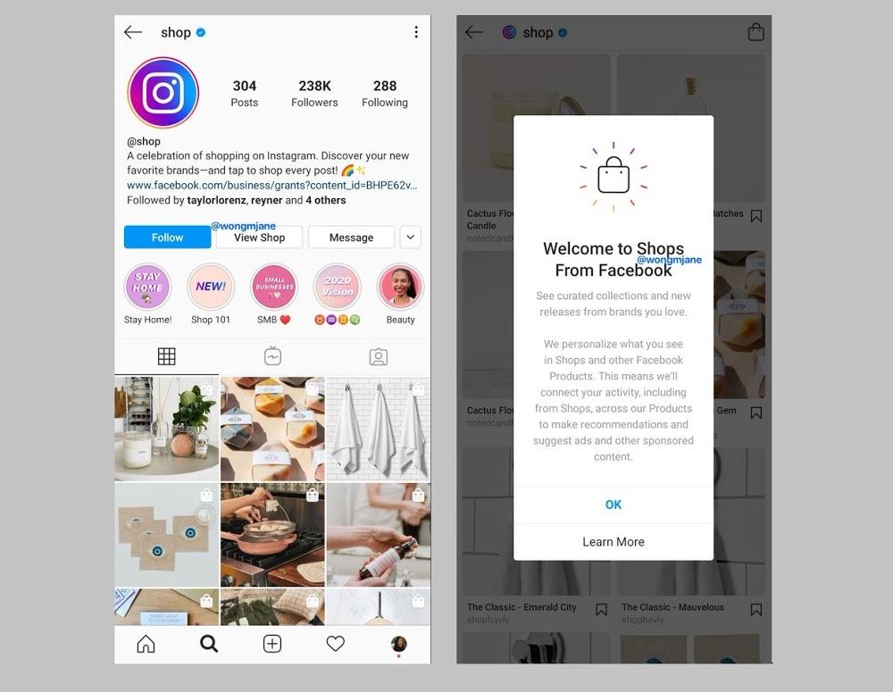 Facebook Instagram özellik