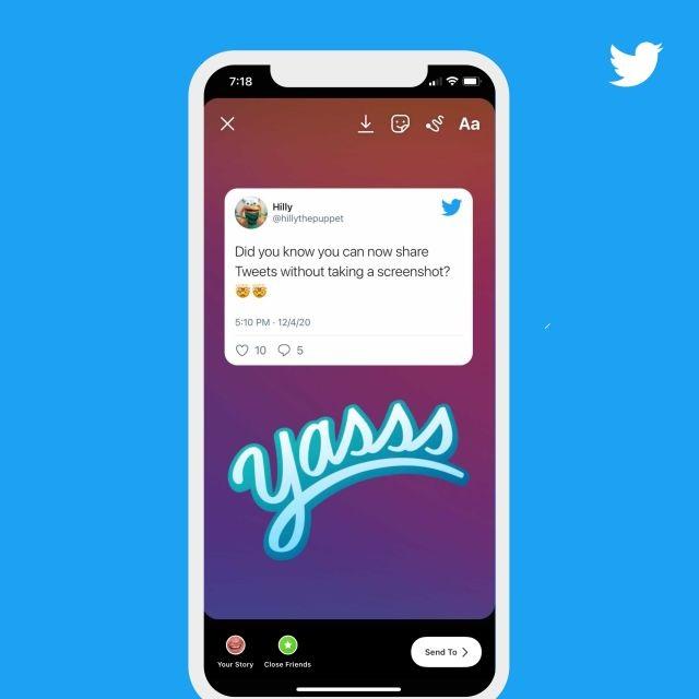 Instagram hikayelerinde tweet