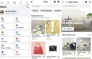 facebook shops alışveriş
